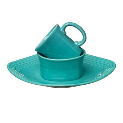 3 Piece Place Setting Color: Turquoise