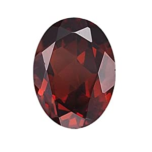 5.53 Cts of 12x10 mm Oval Loose Garnet (1 pcs ) Gemstone