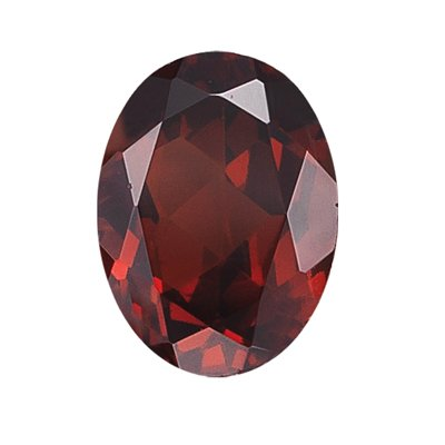 0.59 Cts of 6x4 mm Oval Loose Garnet (1 pcs )