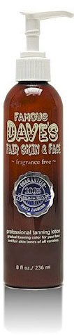 Famous Dave's Moisture Tan & Fair Skin & Face Tanner Combo 2x 236ml - Fake Tan / Self Tanning Lotion