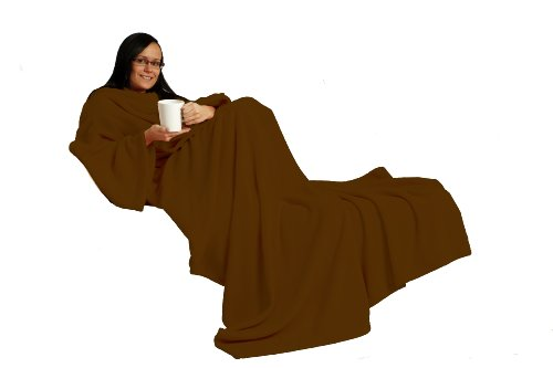 Gift House Int Snug Rug Lite Adult, Chocolate Brown
