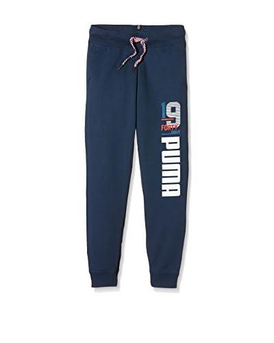 Puma Pantalone Felpa Style Athl Sweat [Blu Scuro]