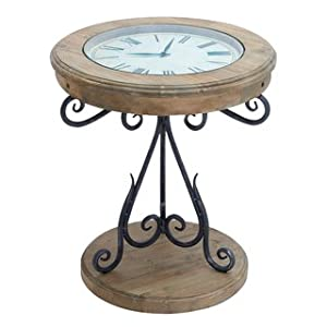 Unique round clock coffee table and end tables for Clock coffee table round
