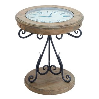 Unique Round Clock Coffee table and End Tables your design. Great Glass Coffee Table has large working clock.. Use this Beautiful Table as a Sofa Table or Console Tables in almost any area of your home. Contemporary Design End Table looks great.