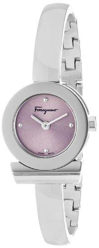 Ferragamo Women's FQ5020013 Gancino Bracelet Stainless Steel Bracelet Pink Sunray Dial Watch