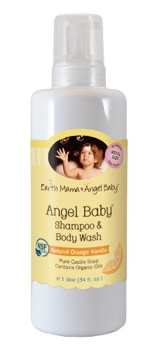 Earth Mama Angel Baby Organic Angel Baby Shampoo & Body Wash, Refill Size, 34-Ounce Bottle image