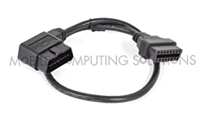 Scan Tool Right Angle OBD II OBD 2 Male to Female Extension Cable 60cm/2'