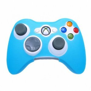 GLOW in DARK Xbox 360 Game Controller Silicone Case Skin Protector Cover Blue