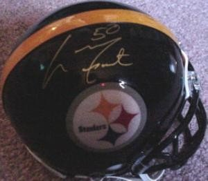 Larry Foote Autographed/Hand Signed Pittsburgh Steelers Football Mini Helmet