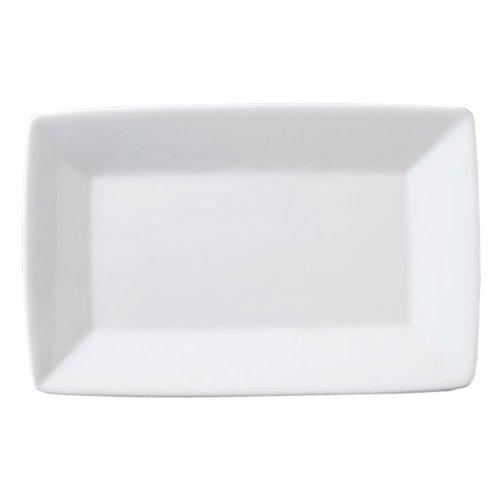 "Vertex Arg-R28P Signature 14.5"" White Rectangle Plate - 12 / Cs"