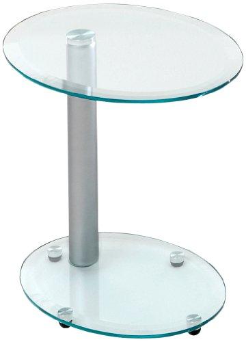 Java-Exclusiv-52141-Beistelltisch-Kama-oval-Metallgestell-Sicherheitsglas-klar-45-x-35-x-45-cm-alufarbig