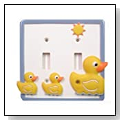 Just Ducky Double Light Switch Plate