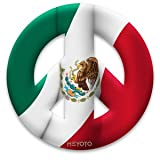 Peace Symbol Magnet of Mexico Flag by MEYOTO LLC