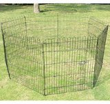 "Pawhut 30"" 8 Panel Light Duty Pet Dog Portable Exercise Playpen front-93659"
