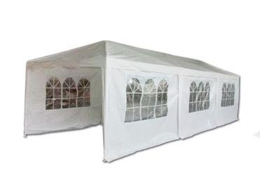Quictent 10'x30' White Party Tent New Wedding Gazebo Canopy with Side Walls
