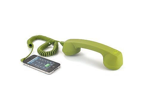 Echo Logico Retro Handset - Soft Touch - Wired Headsets - Retail Packaging - Olive (Elo - Olv - St)