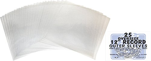 25-OVERSIZE-Plastic-Outersleeves-for-12-Vinyl-Records-Fits-Most-Box-Sets-up-to-34-Thick-12SE03OS