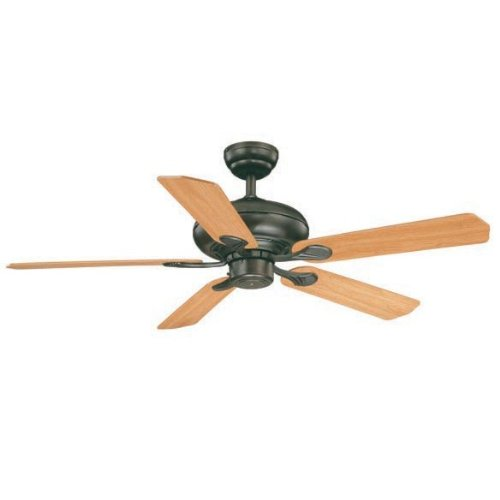 Vaxcel USA FN52275OL, Silver Medallion Traditional 5 Blade 52 inch Ceiling Fan, Bronze, B8190