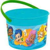 Amscan Lovely Bubble Guppies Drink Bottle (1 Piece), 18 oz, Blue