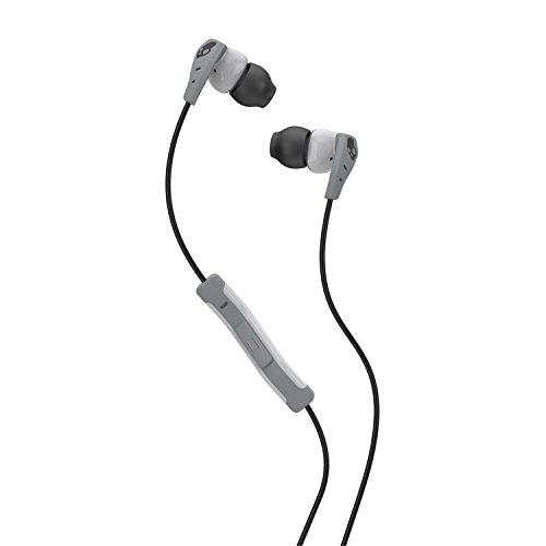 Skullcandy Method In-Ear Sweat Resistant Sports Earbud, LightGray/Dark Gray