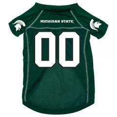 Michigan State Spartans NCAA Mesh Pet Football Jersey - Sizes S, M, L - Sports Fan... by NCAA