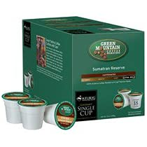 Green Mountain Sumatran Reserve Coffee For Keurig K-Cup Brewing Systems 108 Count