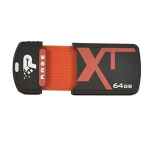 Patriot 64GB Rage Series Cap-less USB 2.0 Flash Drive - PEF64GRUSB