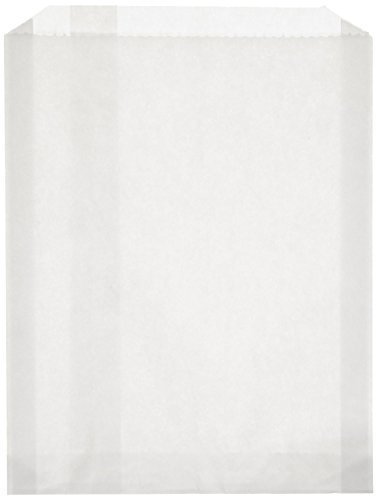 100-piece-6-1-2-x-1-x-8-size-pb25-white-grease-resistant-sandwich-paper-bag-by-landsberg-amcor