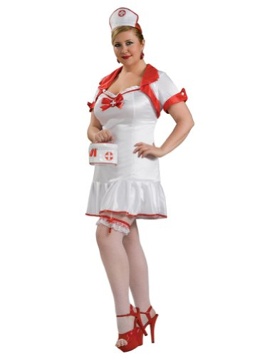 Nurse Uniform Naught Nurse Costume White Red Nurses Hat Adult Theatre Costumes