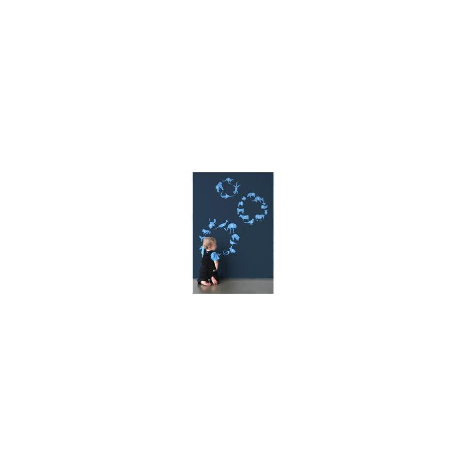 blik Blue Alphabet Zoo Re Stik Wall Stickers