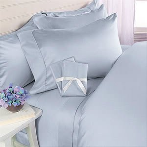Blue Plain - Solid California King Down ALTERNATIVE comforter 750FP FOUR piece set