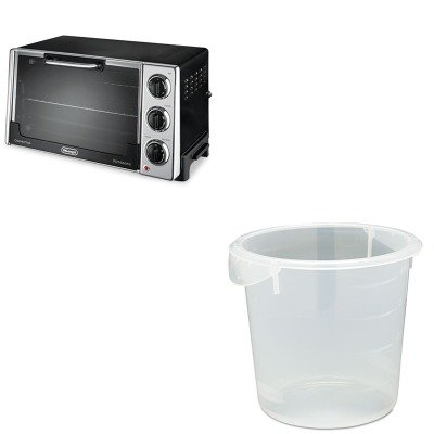 Kitdloro2058Rcp572124Cle - Value Kit - Rubbermaid Clear Round Storage Container (Rcp572124Cle) And Delonghi Convection Oven W/Rotisserie (Dloro2058)