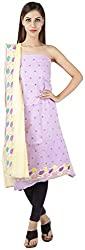 Bee Gee Boutique Women's Synthetic Unstitched Dress Materials (BG-50, Pink)