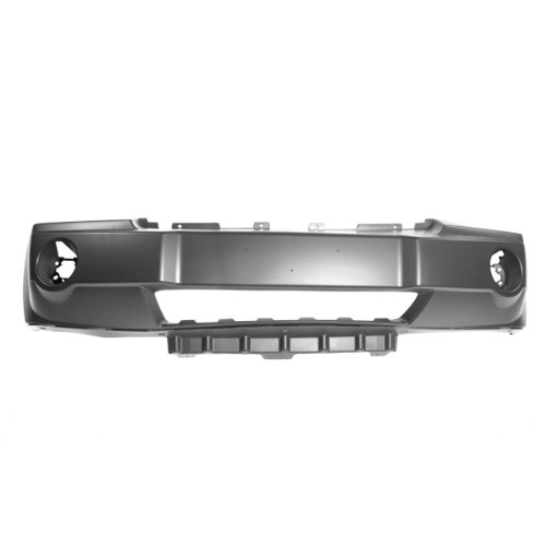 CarPartsDepot-Front-Bumper-Cover-No-Chrome-Insert-Assembly-Primed-wFog-Lamp-Hole-New-352-26875-10-PM-CH1000451-5159130AA
