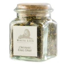 Earl Grey Fine Black Tea, Loose Tea Glass Jar, White Lion Tea