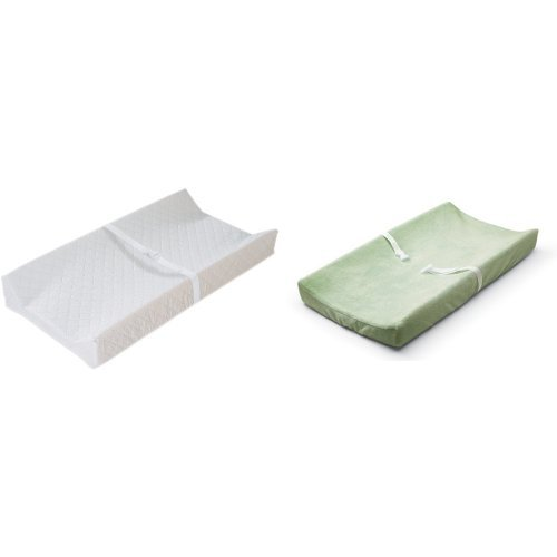 Summer Infant Contoured Changing Pad Amazon Frustration Free Packaging and Sage Cover - 1