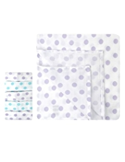 5 Pack Pure Cotton Spotted Muslin Cloths