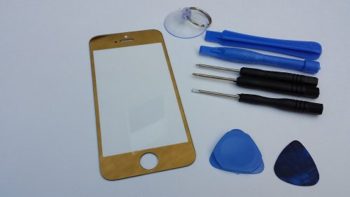 Gold Iphone 5 Screen Glass Lens Replacement For Apple Iphone 5 - Gold Mirror