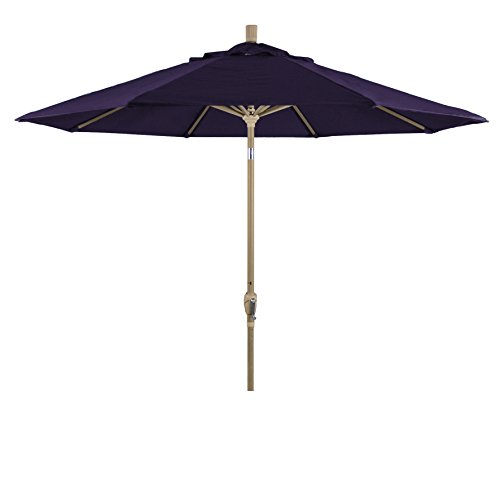 Eclipse Collection 9' Aluminum Market Umbrella Push Tilt -Champagne/Pacifica/Purple