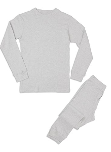 Premium Men's Long John Thermal Underwear Set White L (Mens Thermals White compare prices)