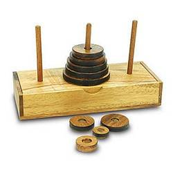 Cheap Creative Crafthouse Wood Puzzle Tower Of Hanoi 9 Ring, Size Medium (B001KMSVB2)