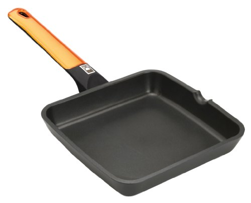BRA-Efficient-Orange-Grill-asador-liso-aluminio-fundido-con-antiadherente-Teflon-Platinum-Plus