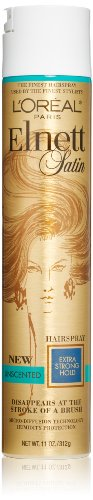 L'Oreal Paris discount duty free L'Oreal Paris Elnett Satin Hairspray Extra Strong Hold Unscented, 11.0 Ounce