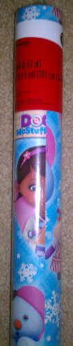 Disney Doc McStuffins Christmas Holiday Wrapping Paper Gift Wrap Roll 60 Sq Ft.