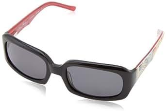 Vera Bradley Women's Meredith VB-MERE-0JBS-S52S19 Polarized Rectangular Sunglasses,Jazzy Blooms,52 mm