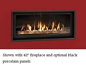Majestic WDV600TKB Inside Fit Trim Kit for Echelon Series Direct Vent Fireplace, Textured Black