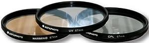 AGFA 3-Piece Professional Filter Kit 67mm - Ultraviolet (UV) + Circular Polarizor (CPL) + Warming Intensifier APFTK67