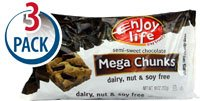 Enjoy Life Mega Chunks Gluten Free Non-GMO Semi-Sweet Chocolate -- 10 oz Each / Pack of 3 from Enjoy Life