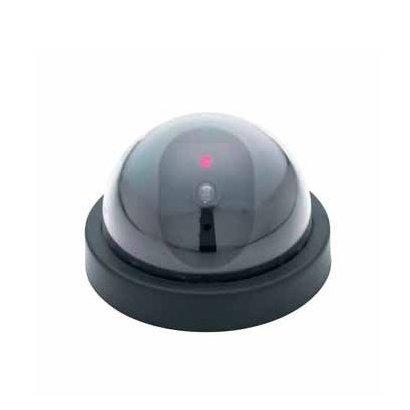 sodialwz-attrappe-kamera-dummy-ueberwachungskamera-kamera-mit-kuppelform-und-1-rotem-blinklicht