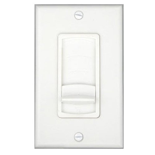 Theater Solutions TSVCS White Wall Mount Impedance Matching Speaker Slide Volume Control Switch Picture